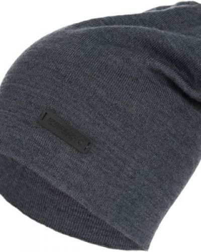 Акриловая серая вязаная шапка Icepeak