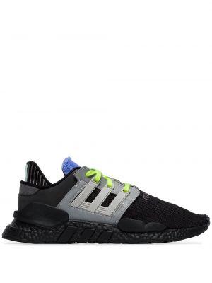 Bawełna koronkowa czarny top sportowy Adidas