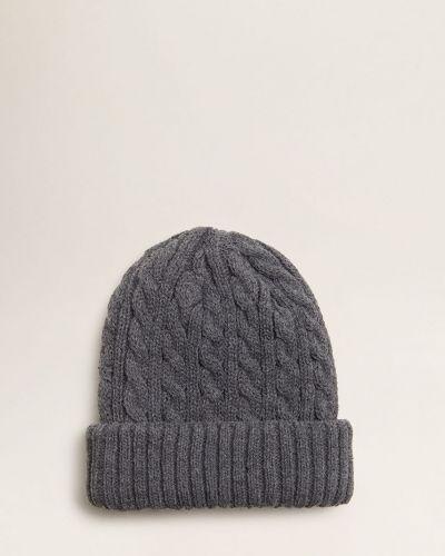 Зимняя шапка с отворотом трикотажная Mango Kids
