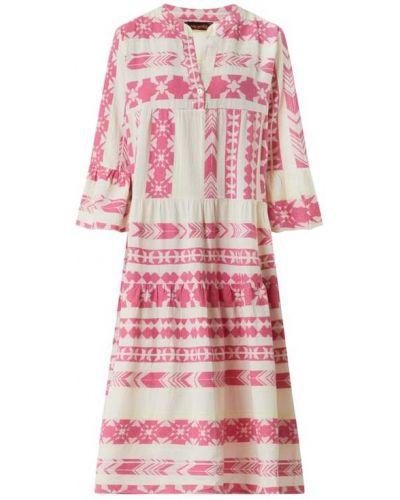 Sukienka rozkloszowana z falbanami - biała Miss Goodlife