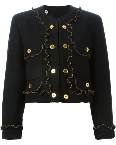 Черная куртка с манжетами Moschino Pre-owned