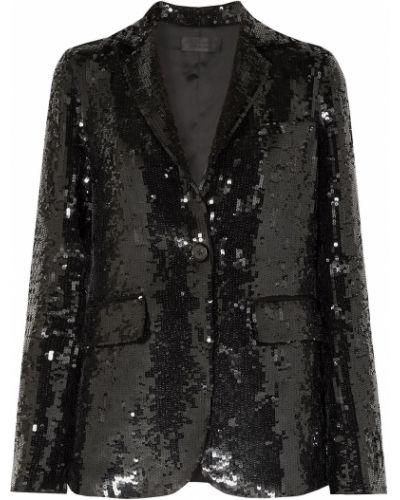 Черный пиджак с карманами с пайетками Nili Lotan