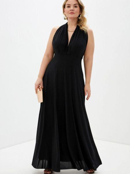 Черное вечернее платье Over