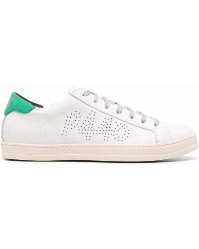Белые кожаные кроссовки P448