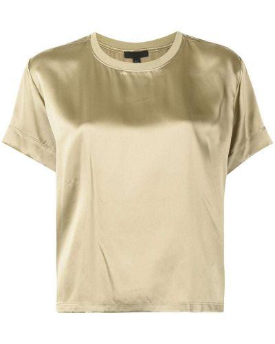 Zielona t-shirt z jedwabiu Atm Anthony Thomas Melillo
