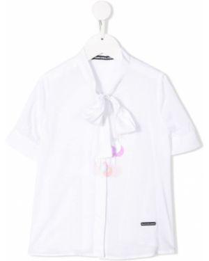 Белая блуза из вискозы Marco Bologna Kids