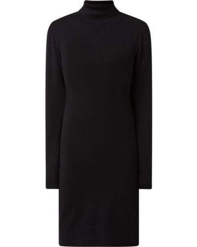 Sukienka dzianinowa z długimi rękawami - czarna Saint Tropez