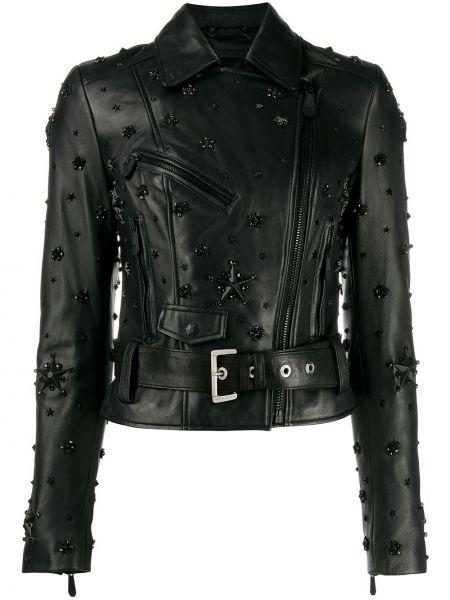 Куртка черная байкерская Philipp Plein