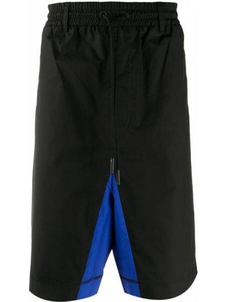 Szorty bawełniane - czarne Marcelo Burlon County Of Milan
