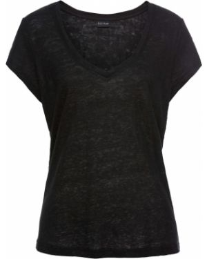Блузка с коротким рукавом боди льняная Bonprix