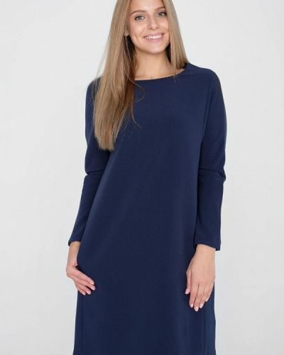 Платье миди осеннее синее Eliseeva Olesya