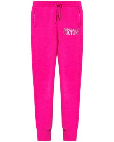 Joggery - różowe Versace Jeans Couture