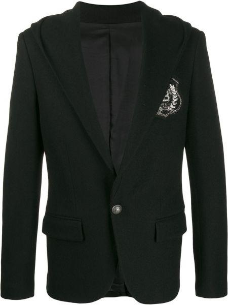 Пиджак с капюшоном с вышивкой на пуговицах с манжетами Balmain