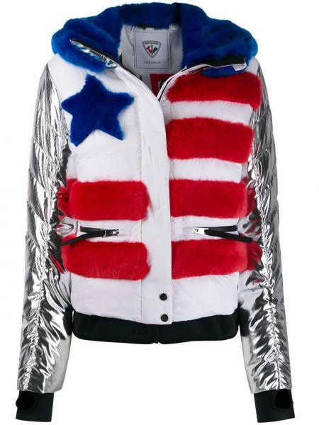 Куртка с капюшоном мятная с манжетами Rossignol
