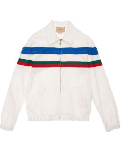 Biała kurtka bawełniana Gucci