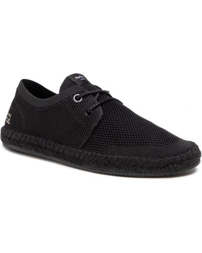 Klasyczne półbuty - czarne Pepe Jeans