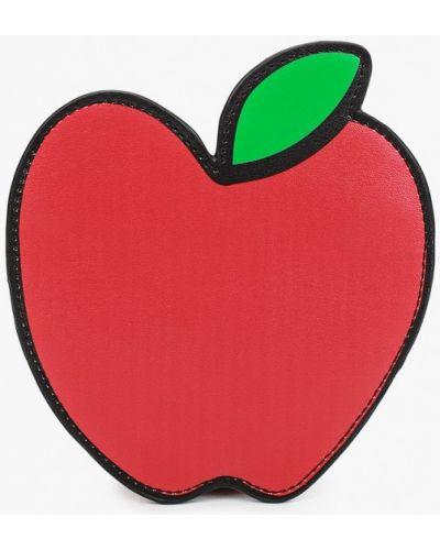 Красная кожаная сумка United Colors Of Benetton