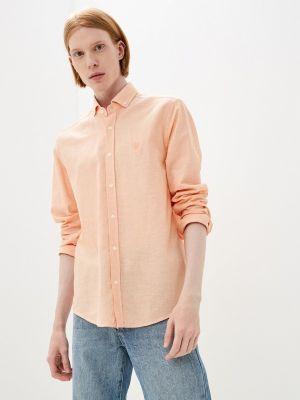 Оранжевая рубашка с длинным рукавом Jimmy Sanders