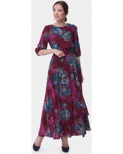 Летнее платье бордовый весеннее Vladi Collection