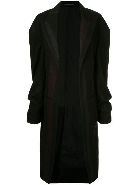 Коралловое шерстяное длинное пальто с лацканами винтажное Yohji Yamamoto Pre-owned