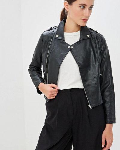 Кожаная куртка весенняя черная Haily's