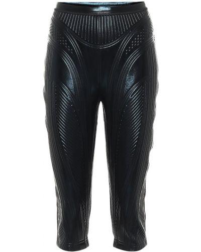 Компрессионные черные шорты байкерские Mugler