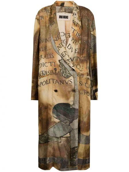 Długi płaszcz z kieszeniami zapinane na guziki Uma Wang
