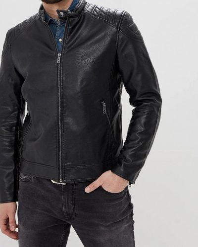 Кожаная куртка черная Celio