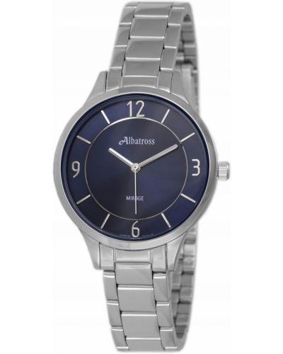 Klasyczny czarny zegarek srebrny Albatross