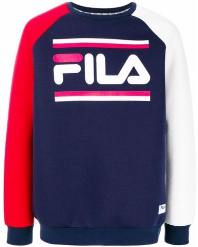 Синяя толстовка с логотипом Fila