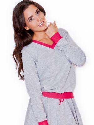 Różowa bluza bawełniana Katrus