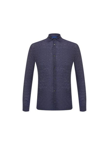 Льняная рубашка - синяя Andrea Campagna