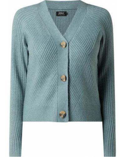Zielony sweter z dekoltem w serek Only