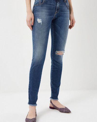 Синие джинсы-скинни Met