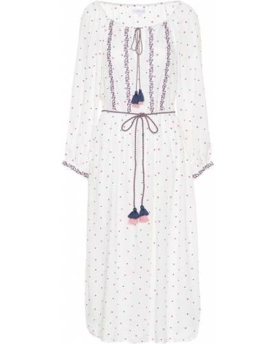 Теплое платье с вышивкой с цветочным принтом Velvet
