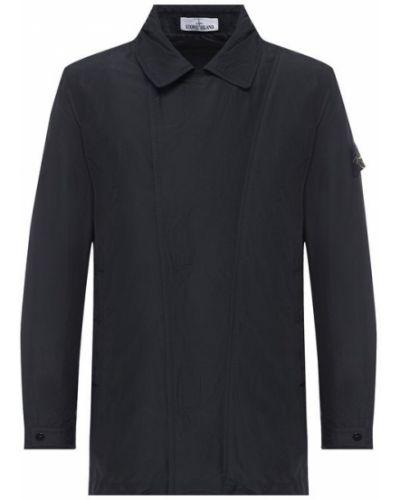 Черная куртка на молнии Stone Island