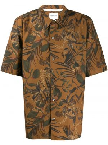 Koszula krótkie z krótkim rękawem klasyczny z kołnierzem Norse Projects
