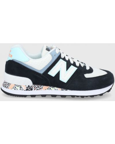 Czarne sneakersy skorzane sznurowane New Balance