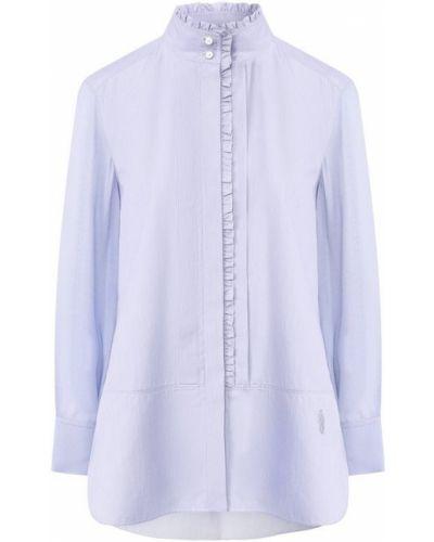 Джинсовая рубашка с оборками из вискозы Chloé