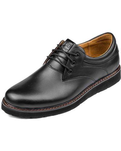 Черные кожаные туфли на каблуке Bumer