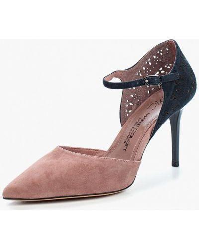 Туфли на каблуке велюровые Marie Collet