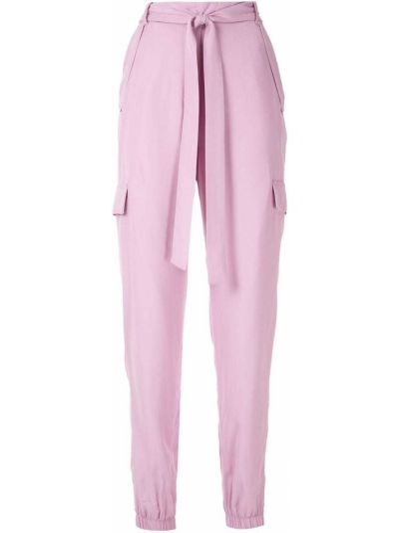 С завышенной талией фиолетовые брюки с карманами Reinaldo Lourenço