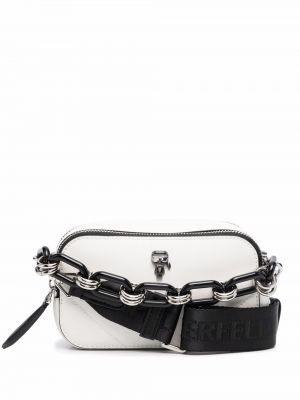 Biały łańcuszek srebrny Karl Lagerfeld