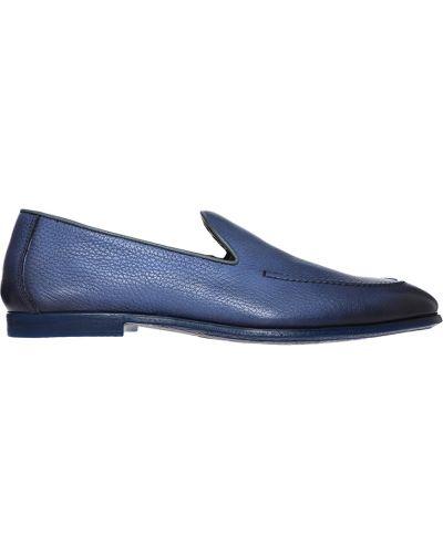 Кожаные туфли - синие Doucal's
