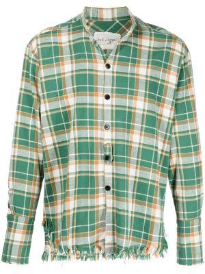 Зеленая рубашка с воротником Greg Lauren