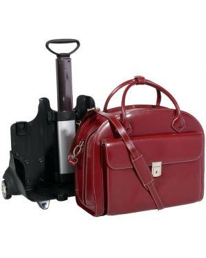 Klasyczna czerwona torebka skórzana Mcklein