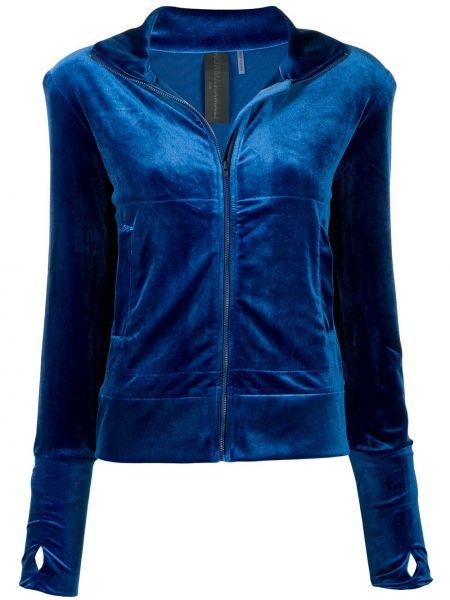 Спортивная куртка бархатная синий Norma Kamali