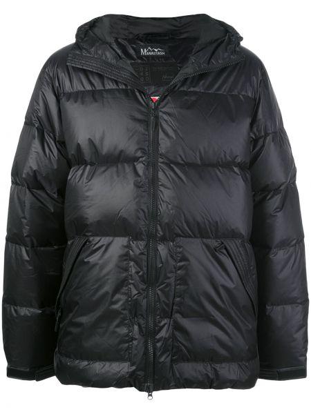 Czarna kurtka z kapturem z długimi rękawami Manastash