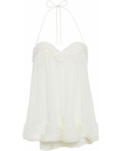Biała koszula nocna z jedwabiu La Perla