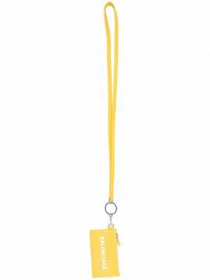 Portfel skórzany - żółty Balenciaga
